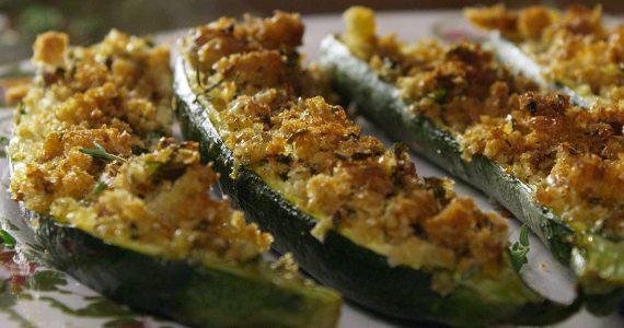 zucchine gratinate menta e pecorino
