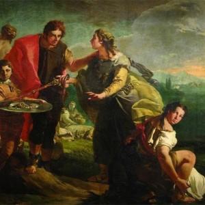 """Gian Battista Tiepolo, """"Ulisse scopre Achille tra le figlie di Licomede"""", 1724"""